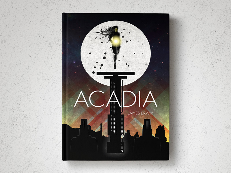 Acadia book cover design