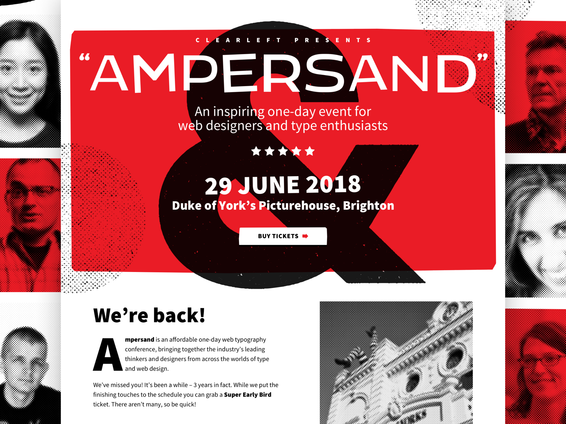 Ampersand 2018 website visual direction