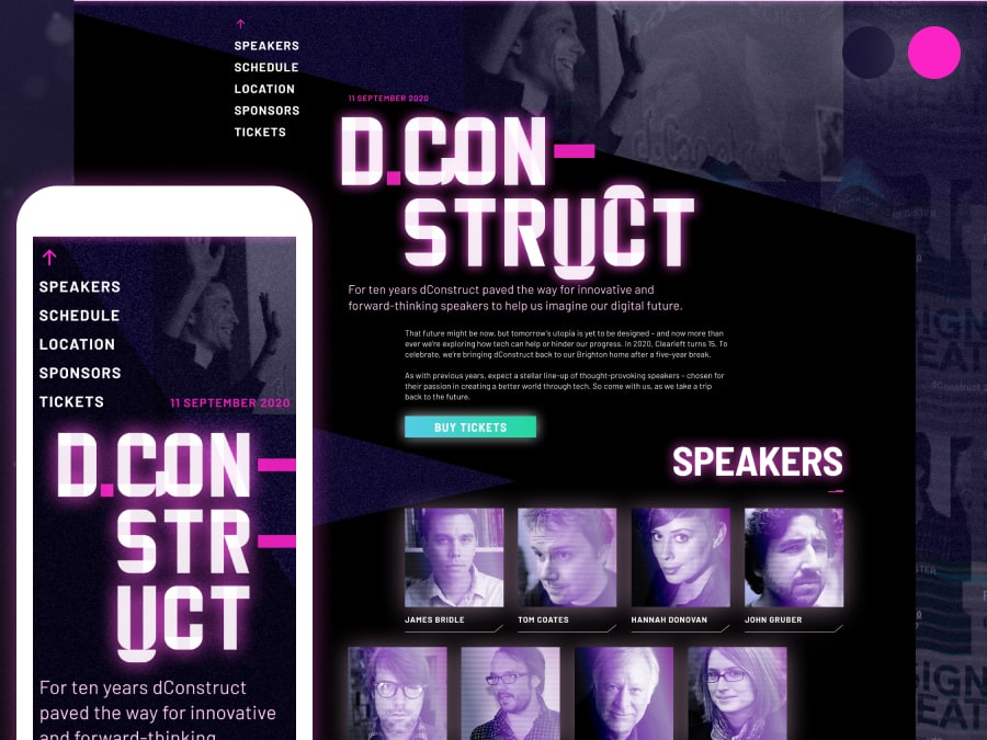 dConstruct 2020 website design