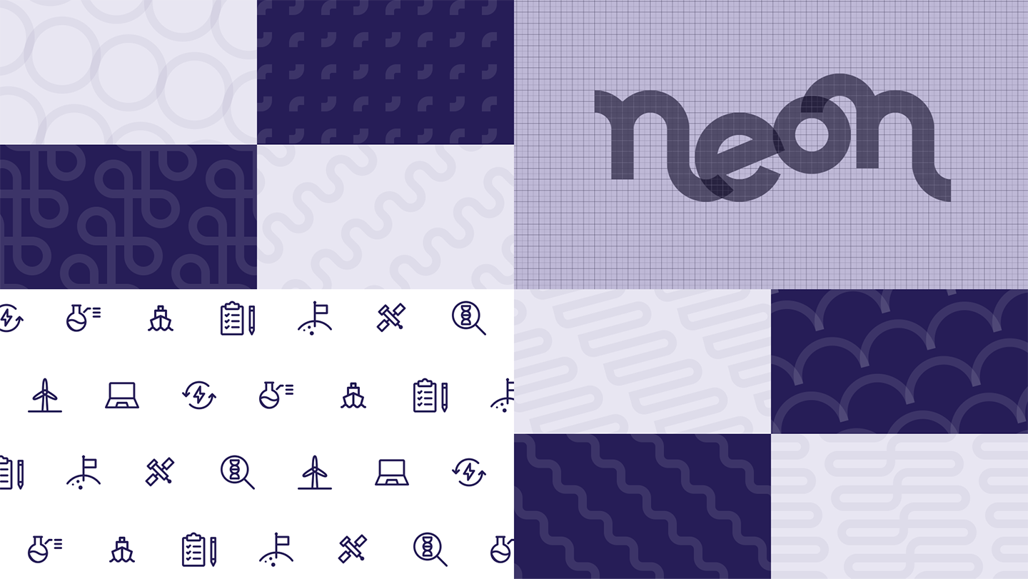 Some patterns based on the geometry of the logo and some possible icon ideas.