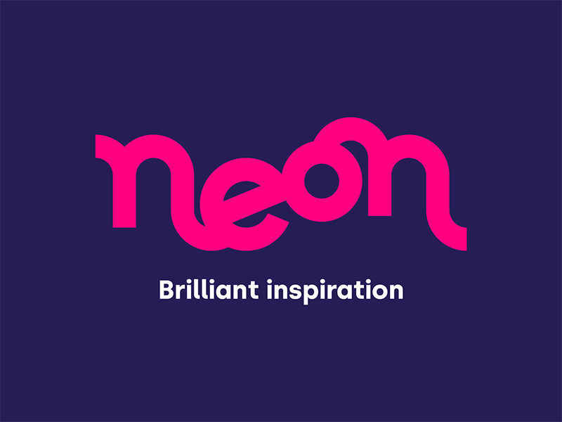 Neon visual direction and logo design